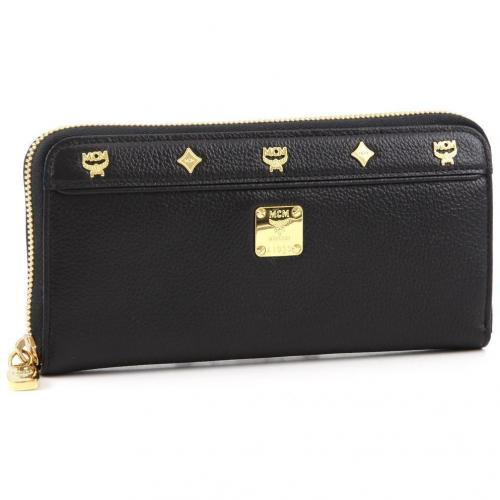 First Lady Zipped L Geldbörse Damen Leder schwarz 19 cm von MCM