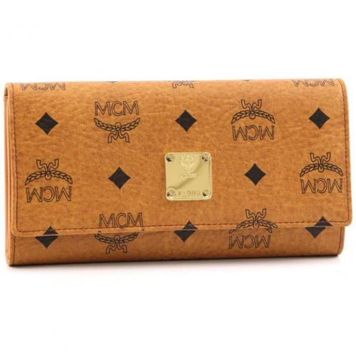 Heritage Line Geldbörse Damen cognac 19 cm von MCM