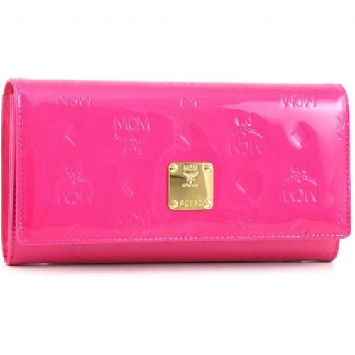 Ivana Patent Geldbörse Damen Leder pink 17,5 cm von MCM