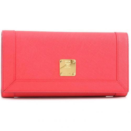 Nuovo L Geldbörse Damen Leder rot 20 cm von MCM