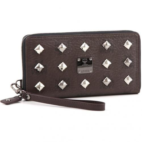 Stark Zipped L Geldbörse Damen dunkelbraun 19,5 cm von MCM
