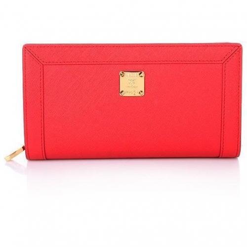 Urban Styler Zipped Wallet Large Red von MCM