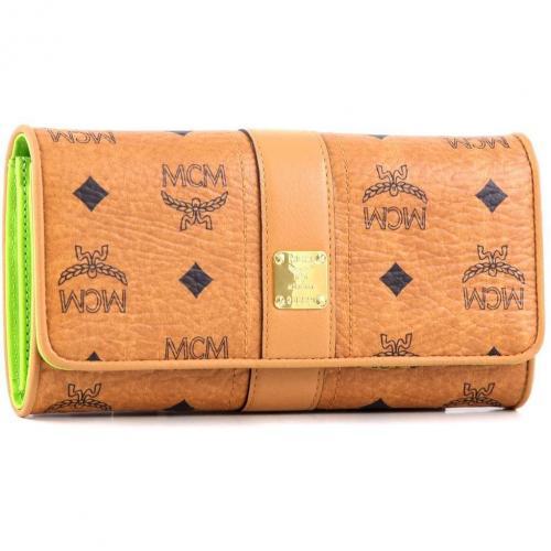 Visetos Vintage Geldbörse Damen lemon 19 cm von MCM