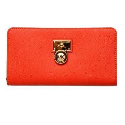 Brieftasche mit Reißverschluss aus Saffianoleder von Michael Michael Kors