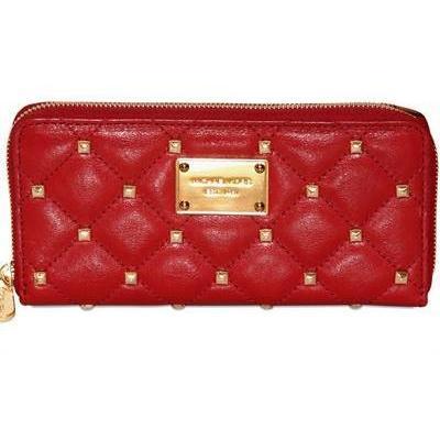 Gesteppte Brieftasche aus Leder mit Nieten von Michael Michael Kors