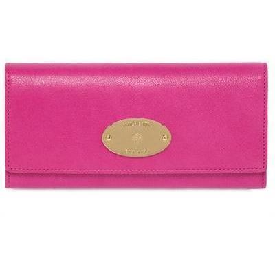 Glänzende, Kontinentale Lederbrieftasche von Mulberry