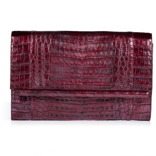 Pearl Purple Crocodile Clutch von Nancy Gonzalez