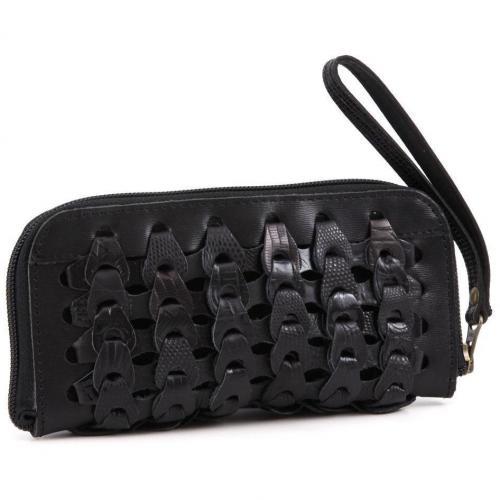 Albira Geldbörse Damen Leder schwarz 20 cm von Octopus
