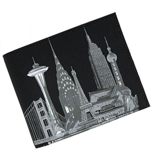 Skyline (12 cm) Geldbörse schwarz  von oxmox