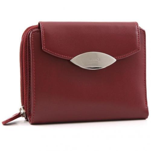 Basic Lounge Geldbörse Damen Leder rot 14 cm von Picard