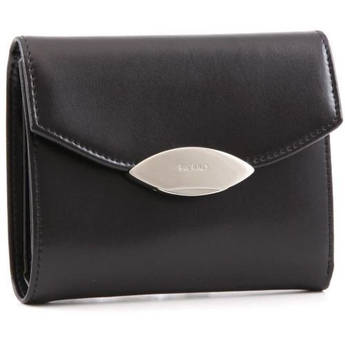 Basic Lounge Geldbörse Damen Leder schwarz 13 cm von Picard
