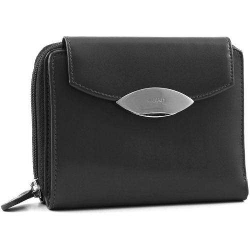 Basic Lounge Geldbörse Damen Leder schwarz 14 cm von Picard
