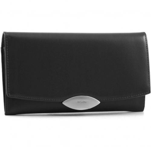 Basic Lounge Geldbörse Damen Leder schwarz 19 cm von Picard
