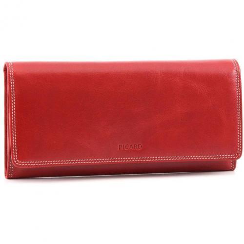 Porto Geldbörse Damen Leder rot 19 cm von Picard