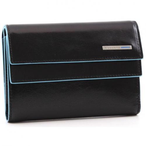 Blue Square Geldbörse Damen Leder schwarz 14 cm von Piquadro