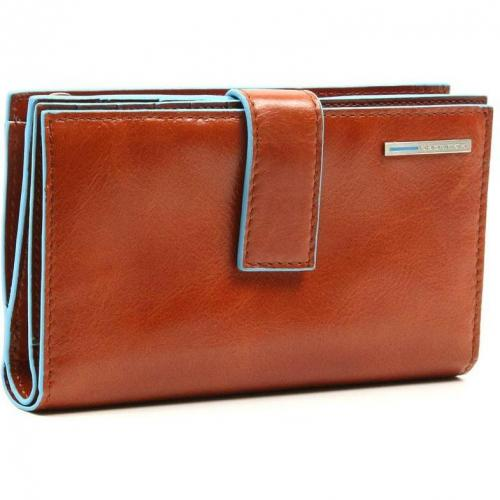 Blue Square Geldbörse Leder orange 9,5 cm von Piquadro