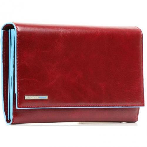 Blue Square Geldbörse Leder rot 19 cm von Piquadro