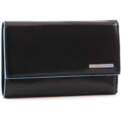Blue Square Geldbörse Leder schwarz 15 cm von Piquadro