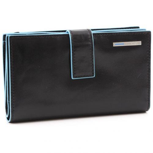 Blue Square Geldbörse Leder schwarz 15,5 cm von Piquadro
