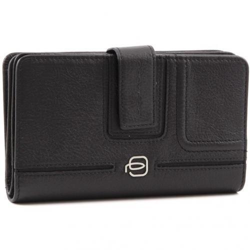Vibe Geldbörse Damen Leder schwarz 15,5 cm von Piquadro