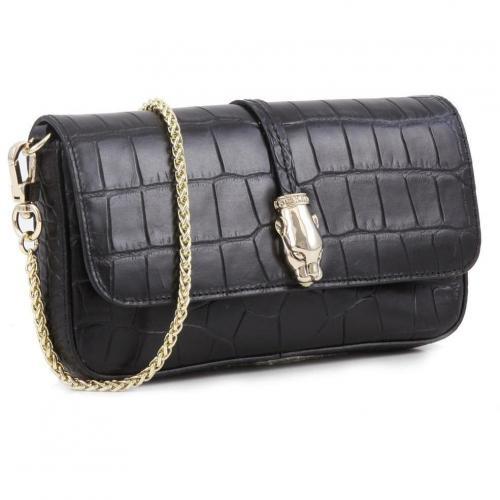 Class Perla Clutch Leder schwarz 20,5 cm von Roberto Cavalli