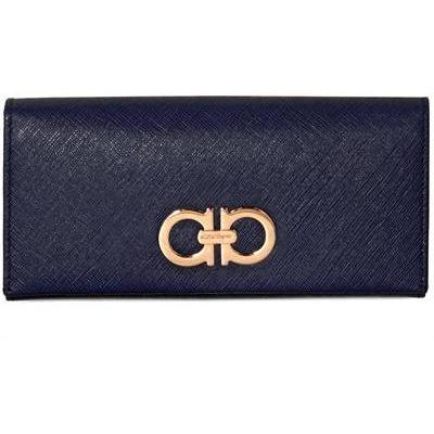 Gancini Brieftasche aus Saffianoleder black von Salvatore Ferragamo