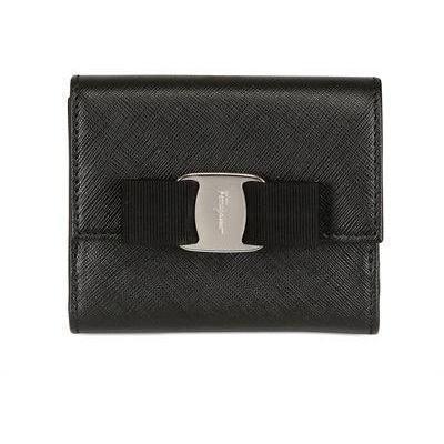 Kleiner Geldbeutel aus Saffianoleder mit Schleife von Salvatore Ferragamo