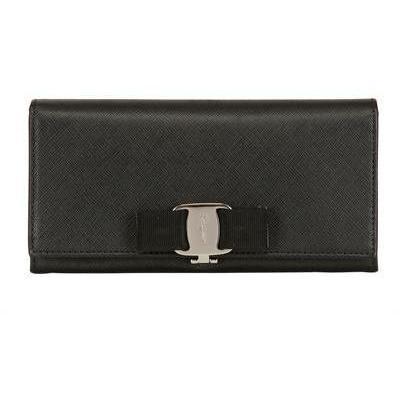 Kontinentale Saffianolederbrieftasche mit Schleife von Salvatore Ferragamo