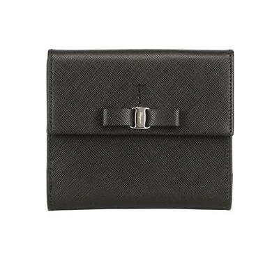 Saffiano Leder Französische Brieftasche & Schleife von Salvatore Ferragamo