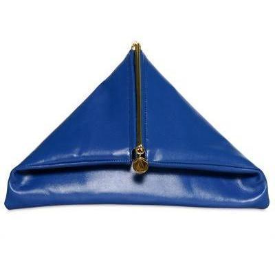 Dreieckige Nigredo Leder Clutch von Simone Rainer