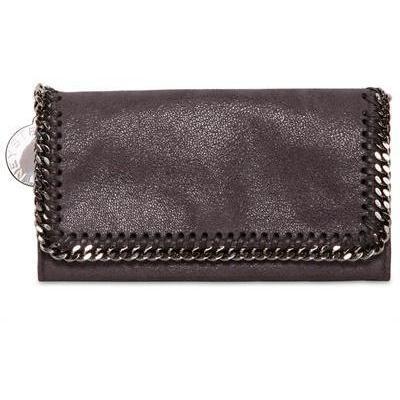 Shaggy Hirsch Faux Leder Brieftasche von Stella Mccartney