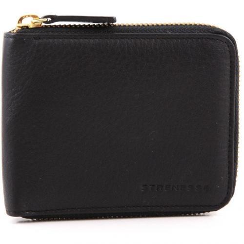 Geldbörse Damen Leder schwarz 19 cm von Strenesse Gabriele Strehle