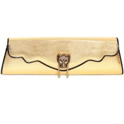 Mackay Deux Clutch aus Beschichtetem Nappaleder gold von Thalè Blanc
